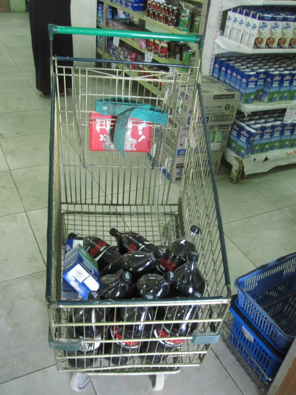 Shopping at Nuku'alofa Grocery