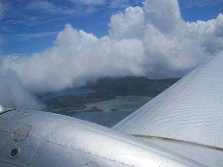 Flying over Tongan Archipelago