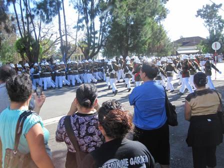 Royal Guards at Parliament Parade, Open of Parliament, Nukualofa, Tongatapu, Tonga