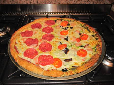 Half-and-Half Whole Wheat Pizza