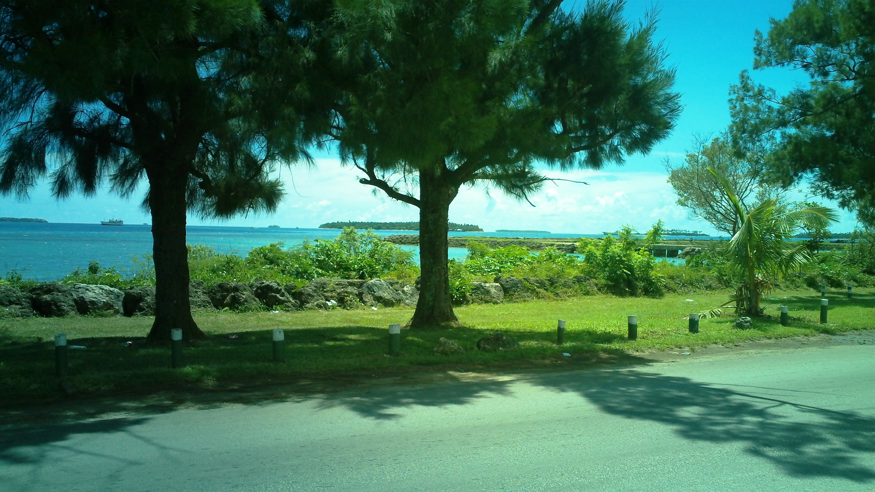 View of Vuna Coastal Road