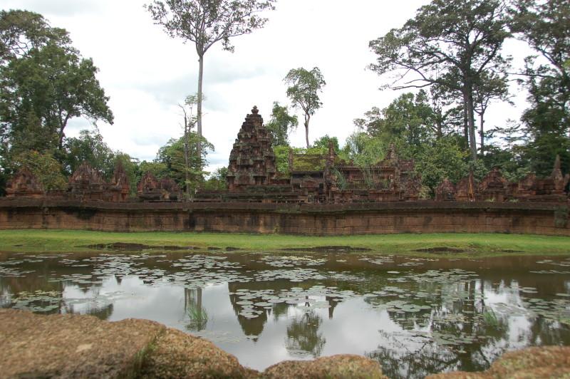 Pond by Bantay Srei.Angkor Wat.Cambodia
