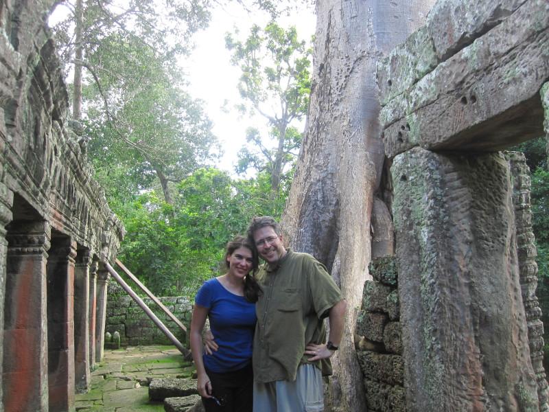 Sam and Jesse.Banteay Kdei.2 Angkor Wat.Cambodia
