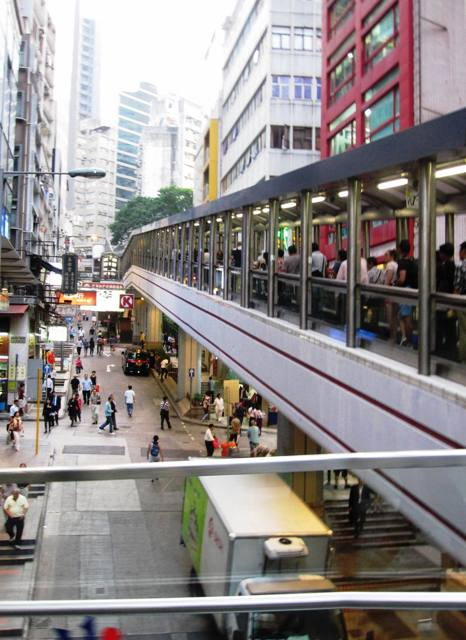 Central to Mid-level Escalators.Hong Kong