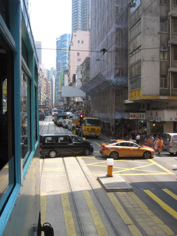 A View from a Trolley.Hong Kong Island
