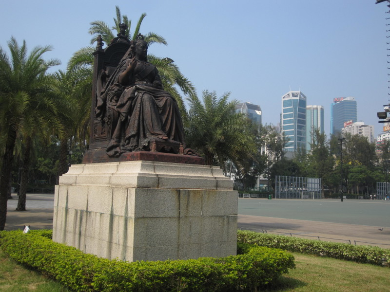 Queen Victoria at Victoria Park.Hong Kong