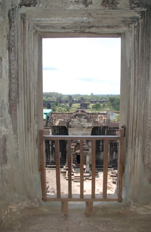 view from indoor temple at Angkor Wat