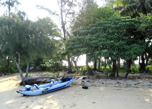Sea Eagle Kayak at Manima Island, Tonga