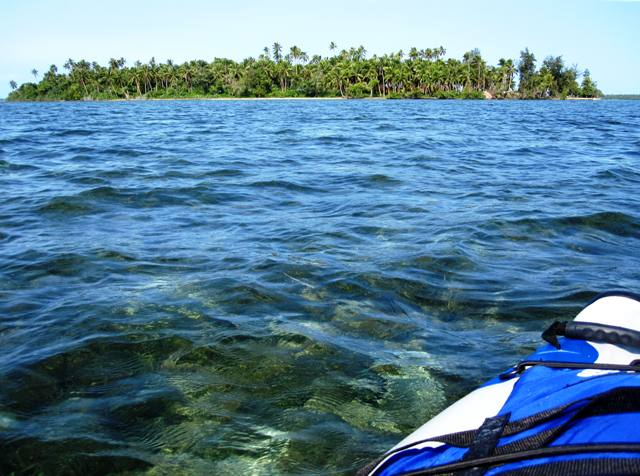 View of Manima Island, Tonga from our Sea Eagle kayak