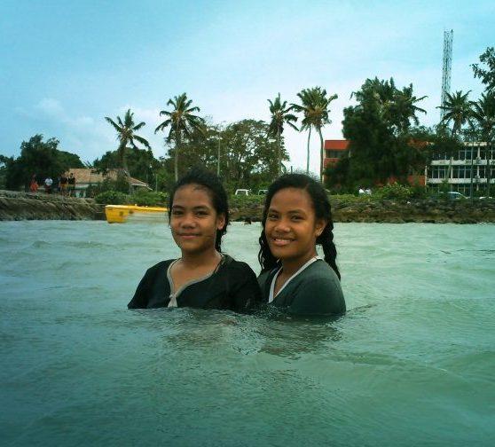 Swimmin' in the Rain, American Pier in Tongatapu, Tonga