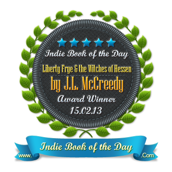 Liberty Frye and the Witches of Hessen won the Independant Book of the Day Award!