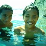 Swim Buddies at the American Pier