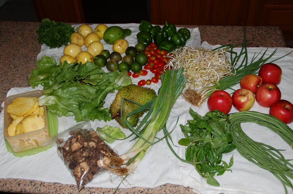 Typical Produce Purchase at the Market -- 50 Pa'anga's worth (about $28 USD)
