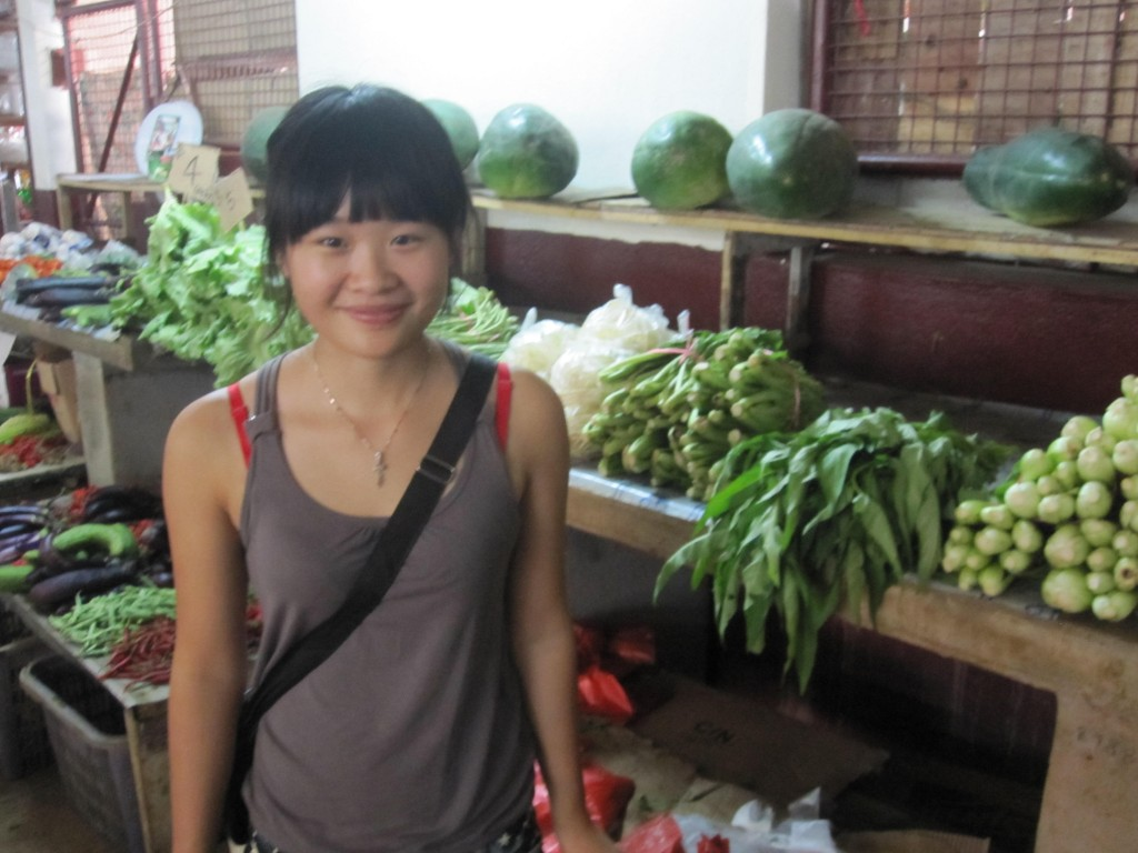 Lee and Her Vegetable Stand