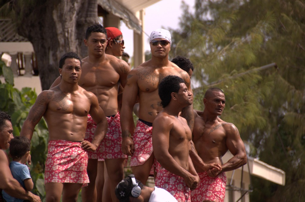 Mr. Tonga Body Building Contest ... Well, maybe this isn't entirely representative, but a lot of men and women outside of bodybuilding look like athletes without even trying!