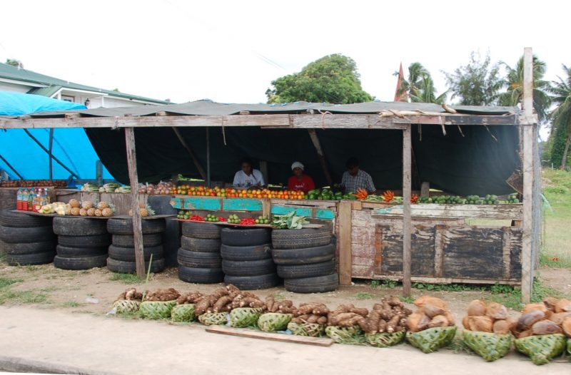 Typical Roadside Produce Stand in Nuku'alofa, Tongatapu, Tonga