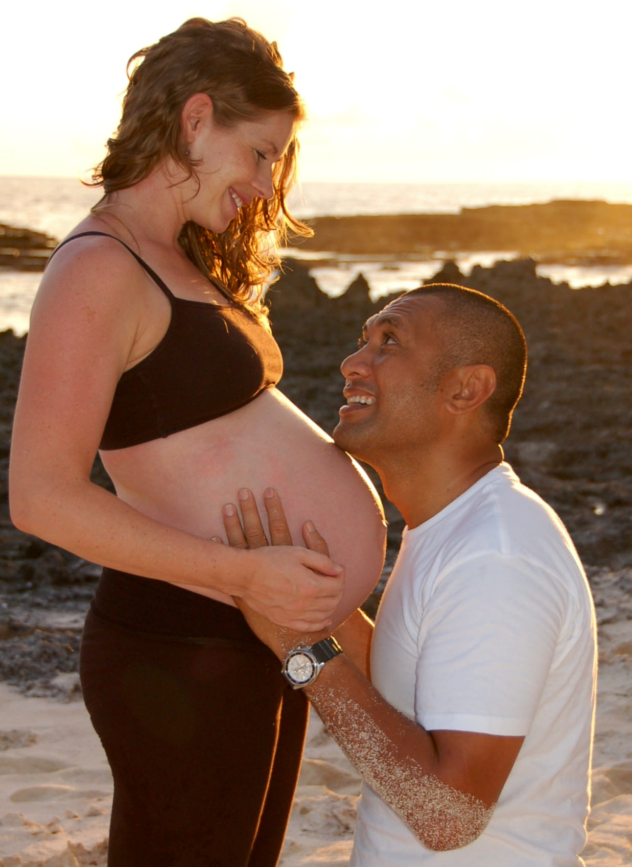 Happy expectant parents – 35 weeks, © J.L. McCreedy