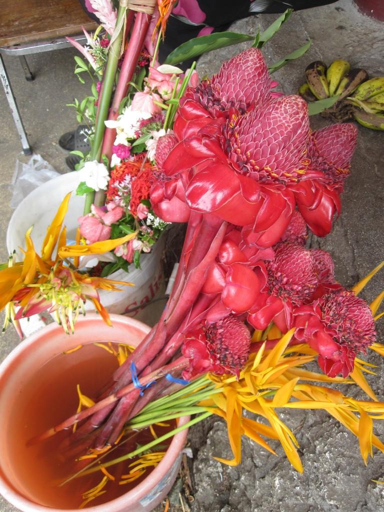 Flowers sold at Meketi Talamahu