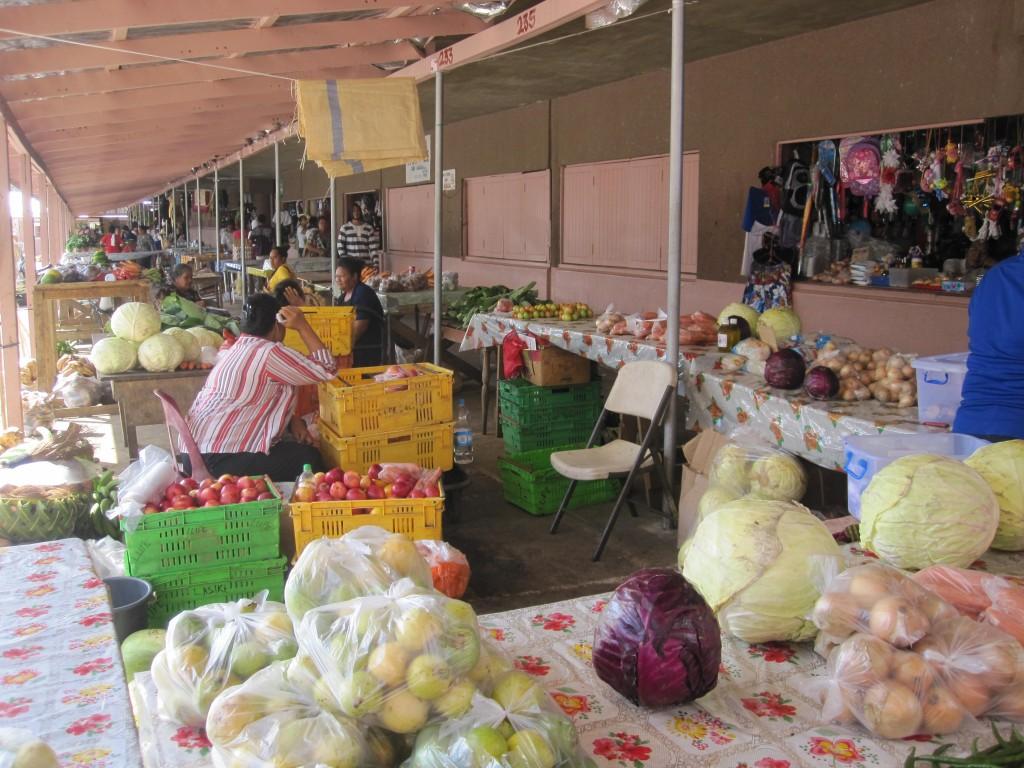 Outside stalls of Nuku'alofa's Market