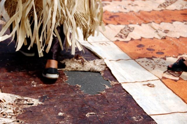 Tapa Carpet at King Tupou V Funeral.Tongatapu Tonga