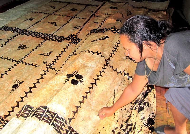 Tapa cloth pattern for Methodist Convention.Tonga