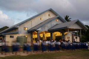 Tau'fa'ahau's meeting hall, the Wesleyan Secondary School