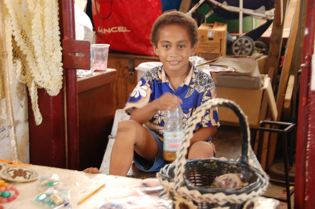 Boy and his Basket, upper level of Meketi Talahmahu