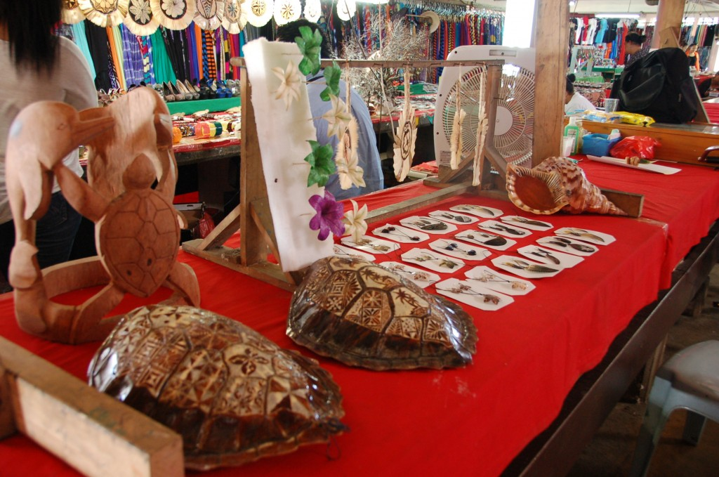 Turtle Shells and Jewelry -- Upper level of Meketi Talamahu