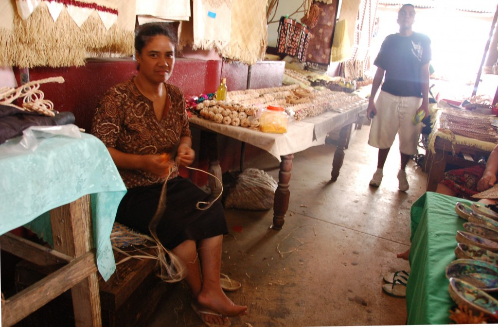 Woman selling Kia-Kia's and Mother of Pearl Soap Dishes