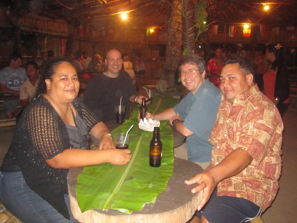 Buffet dinner at Hina Cave and