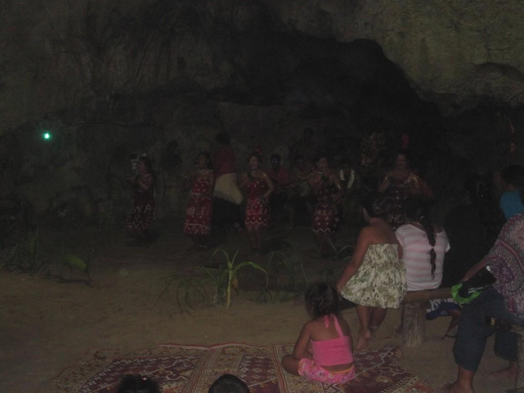 Performance inside Hina Cave