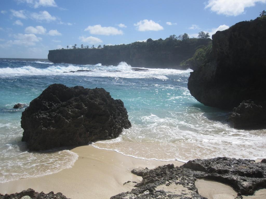 Beach by Natural Land Bridge