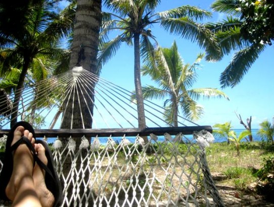 View from Hammock on Fafa Island, Tonga