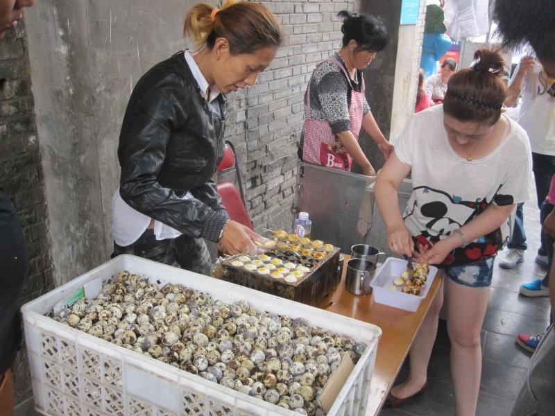 Grilled Quail Eggs. Tianjin Street Food