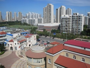 View of Meijang Area (Hexi Distric) in Tianjin.  Nearly all of the high rises are apartment complexes