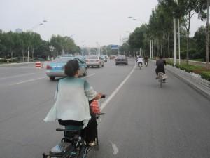 Bike lane on Youyi Road