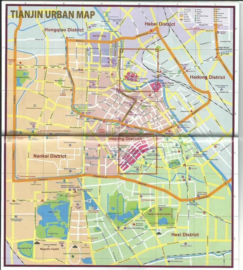 Map of Tianjin