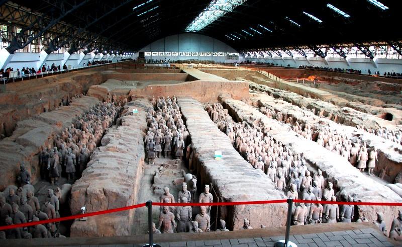 Terracotta Warriors Museum.Pit 1