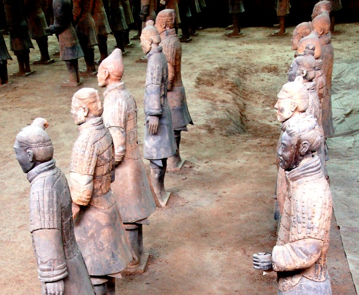 Terracotta Warriors.Hairstyle and costume details