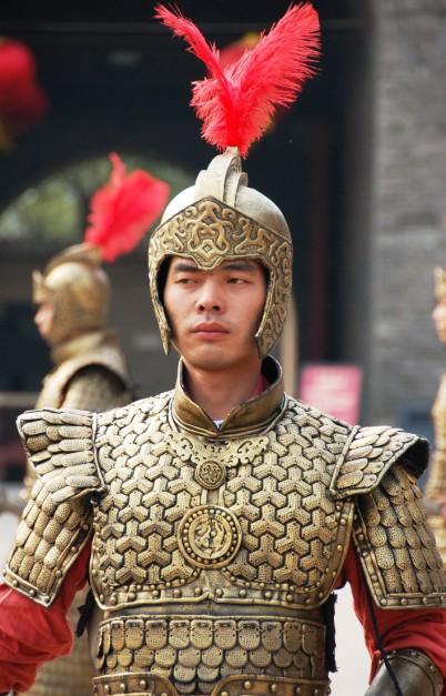 Guard at Xi'an City Wall. Xi'an China