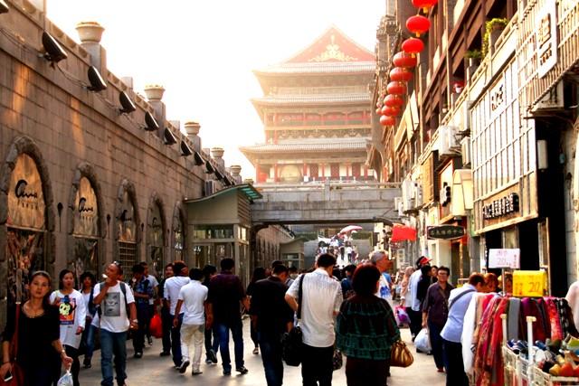 Xi'an Drum Tower. Xi'an China