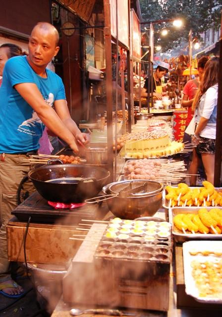 Xi'an Muslim Quarter.barbeque