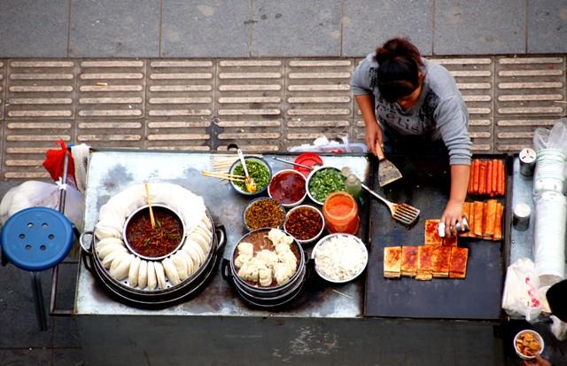 Xi'an Street Food Vendors.Xian China