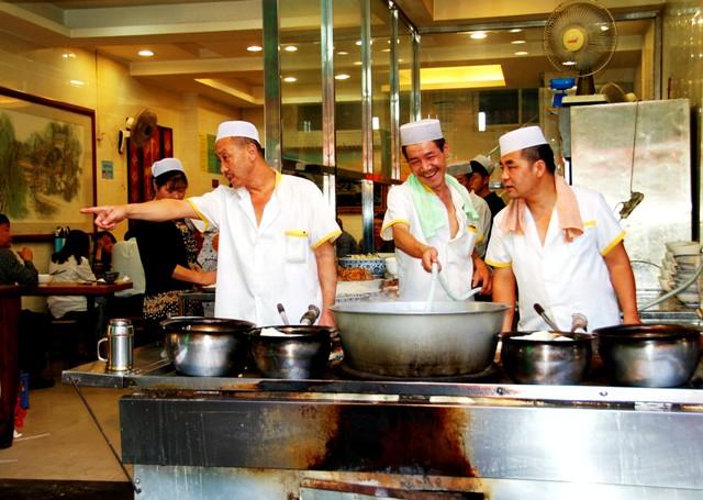 Yanrou Paomo Restaurant.Xi'an Muslim Quarter
