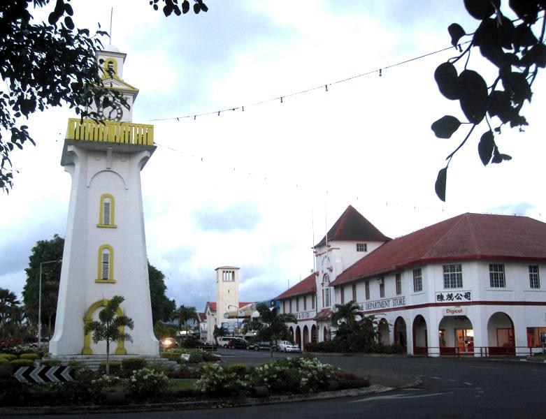 Apia Lighthouse.Downtown Apia, Samoa