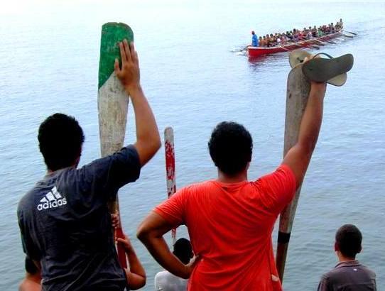 Canoeing.Apia Samoa.2