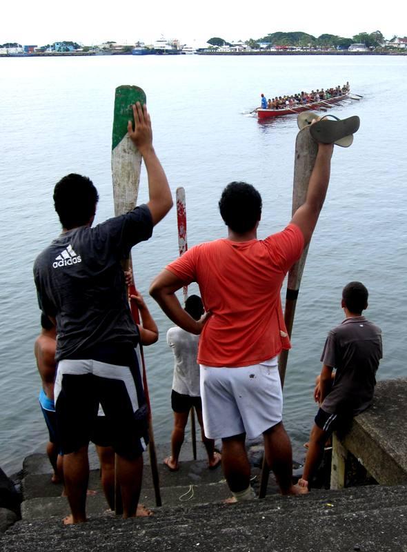 Canoeing.Apia Samoa