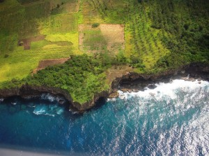 Flying into 'Eua, Tonga