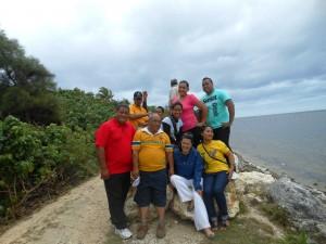 Natalie with Teacher Candidates, Tonga