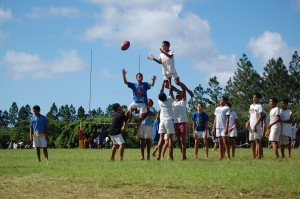 Kids Playing Rugby ('Eua, Tonga)